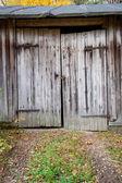 Old wooden barn door — Stock Photo