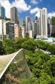 Aerial view over hong kong park — Stock Photo