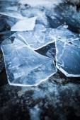 Pieces of ice on rock — Stock Photo