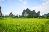 Karst mountains landscape in southern china — Stock Photo
