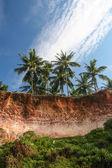Cliffs at Varkala beach india — Stock Photo