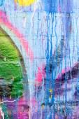 Damlayan boya grafiti duvar — Stok fotoğraf