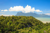 Tropical landscape over jungle and hills — Stock Photo