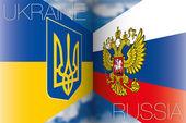 Banderas de Ucrania vs Rusia — Vector de stock