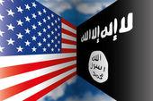 Usa vs isis flaggor — Stockvektor