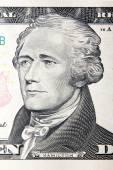 Alexander hamilton, dólares estadounidenses retrato — Foto de Stock