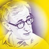 Woody allen, portrait — Stock Vector
