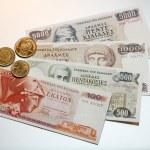 Greek drachmes — Stock Photo #65381897