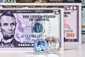 Us dollar banknotes — Stock Photo