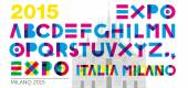 Expo 2015 font — Stock Vector