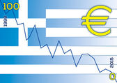 Greek flag and greek economy — Stock Vector