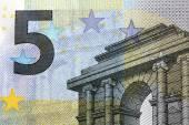 Euro banknotes, particular — Stock Photo