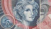 Woman portrait, italian banknote particular — Stock Photo