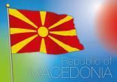 Macedonia flag — Stock Vector