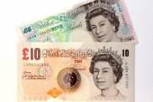 Ten pound banknote — Stock Photo