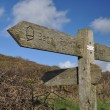 Southwest Coast Path Baggy Point sign — Stock Photo #63081063