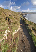 Croyde from Baggy Point — Stock Photo