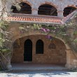 Cloisters and frescoes at Ialyssos Monastery Rhodes — Stock Photo #65578703