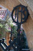 Religious decoration at Ialyssos gate — Foto de Stock