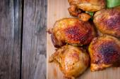 Grilled chicken thighs — Stock Photo
