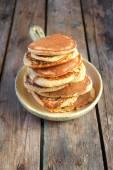 Oat bran pancakes — Stock Photo