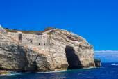 View of the cliff of Bonifacio, Corsica, France — Stock Photo