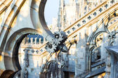 Rooftop of Duomo cathedral, Milan, Italy — Stockfoto