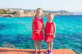 Adorable little girls have fun — Stockfoto