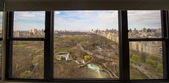 Autumn view of Central Park from the hotel window, Manhattan, New York — Stock Photo