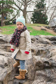 Adorable little girl in Central Park at New York City — Stock Photo