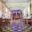 Beautiful Catholic Church in an exotic country indoors — Stock Photo #57506351