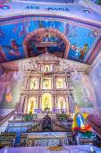 Beautiful Catholic Church in an exotic country indoor — Stock Photo