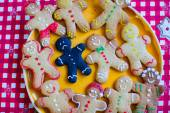 Sad burnt and ready funny gingerbread cookies — Stock Photo