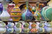 Tradycyjnej tureckiej ceramiki na bazar — Zdjęcie stockowe