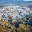 Top view of capital Fira, Main Town of Santorini island, Greece — Stock Photo #63835745