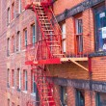 West Village in New York Manhattan building facades USA NYC — Stock Photo #64866579