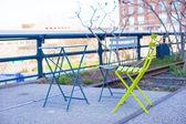 Outdoor cafe in New York — Foto de Stock