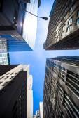 New York Skyscrapers View Upward — Stock Photo