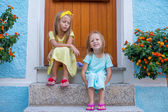 Adorable little girls during summer vacation — Stock Photo