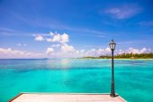 Perfecta playa blanca con aguas color turquesa en Isla ideal — Foto de Stock