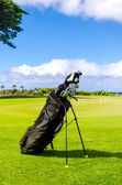 Golf clubs background — Stock Photo