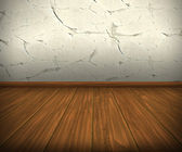 Room with wall and wooden floor — Stock Photo