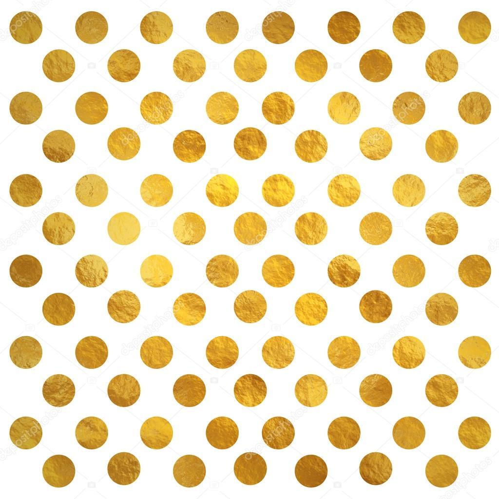 white gold polka dot wallpaper