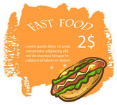 Vintage fast food background — Stock Vector
