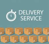 Delivery service design template — Stock Vector