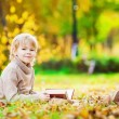 Boy autumn day — Stock Photo #54684579
