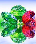 Luxury, precious stones,reflected in the water. — Stock Photo