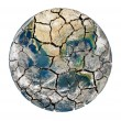 Постер, плакат: Cracked earth planet isolated on a white background
