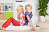 Two Little Friends at home — Stock Photo