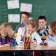 Young children in kindergarten class — Stock Photo #53242187